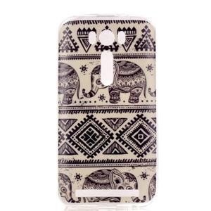 Softy gélový obal pre mobil Asus Zenfone 2 Laser - sloni - 1