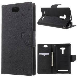 Mr. Goos peňaženkové puzdro na Asus Zenfone Selfie ZD551KL - čierné - 1