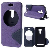 Peňaženkové puzdro s okýnkem na Asus Zenfone Selfie ZD551KL - fialové - 1/7