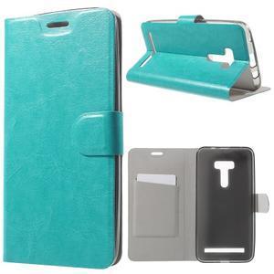 Horse peňaženkové puzdro na Asus Zenfone Selfie ZD551KL - modré - 1