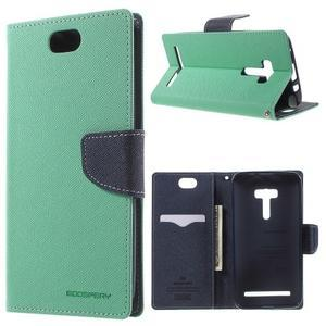 Mr. Goos peňaženkové puzdro na Asus Zenfone Selfie ZD551KL - cyan - 1