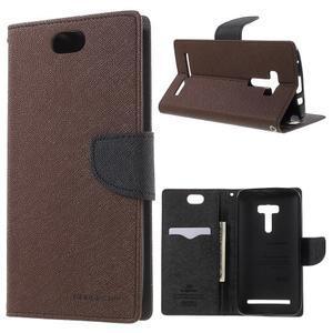 Mr. Goos peňaženkové puzdro na Asus Zenfone Selfie ZD551KL - hnedé - 1
