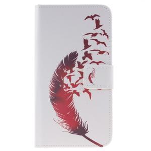 Peňaženkové puzdro pro mobil Honor 5X - vtačie pierko - 1