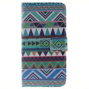 Peňaženkové puzdro pro mobil Honor 5X - geo tvary - 1