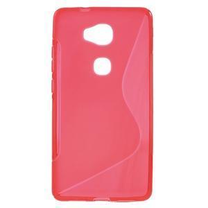 S-line gélový obal pre mobil Honor 5X - červený - 1