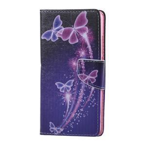Knížkové puzdro pre mobil Honor 5X - čarovné motýľe - 1