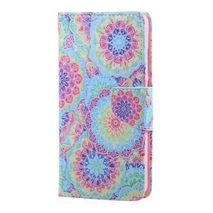 Knížkové pouzdro na mobil Honor 5X - barevná mandala - 1
