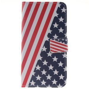 Peňaženkové puzdro pro mobil Honor 5X - US vlajka - 1