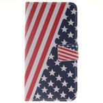 Peňaženkové puzdro pro mobil Honor 5X - US vlajka - 1/7
