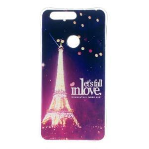 Emotive gelový obal na mobil Honor 8 - Eiffelova věž - 1