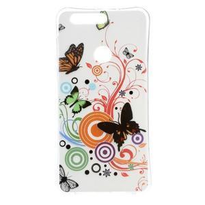 Emotive gelový obal na mobil Honor 8 - motýlci - 1