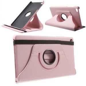 Otočné polohovatelné pouzdro na Huawei MediaPad M2 - růžové - 1