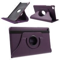 Otočné polohovateľné puzdro na Huawei MediaPad M2 - fialové - 1/7