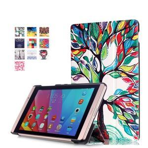 Třípolohové pouzdro na tablet Huawei MediaPad M2 8.0 - malovaný strom - 1