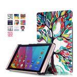 Třípolohové pouzdro na tablet Huawei MediaPad M2 8.0 - malovaný strom - 1/7