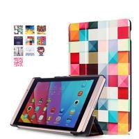 Třípolohové pouzdro na tablet Huawei MediaPad M2 8.0 - barevné kostičky - 1/7