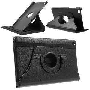 Otočné polohovatelné pouzdro na Huawei MediaPad M2 - černé - 1