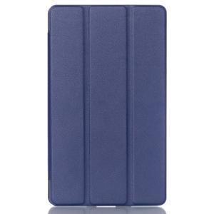 Trifold polohovateľné puzdro na tablet Huawei MediaPad M2 8.0 - tmavo modré - 1