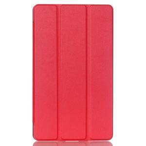 Trifold polohovatelné puzdro na tablet Huawei MediaPad M2 8.0 - červené - 1