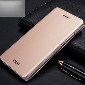 Vintage PU kožené pouzdro na Huawei P8 Lite - zlaté - 1