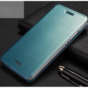 Vintage PU kožené pouzdro na Huawei P8 Lite - modré - 1