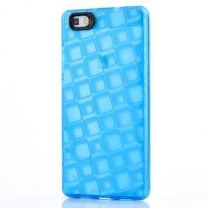 Square gelový obal na Huawei P8 Lite - modrý - 1