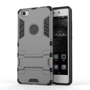 Odolný ochranný kryt na Huawei P8 Lite - šedý - 1