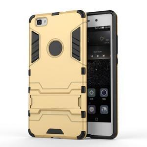 Odolný ochranný kryt na Huawei P8 Lite - zlatý - 1