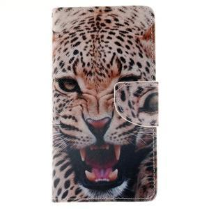 Leathy PU kožené pouzdro na Huawei P8 Lite - leopard - 1