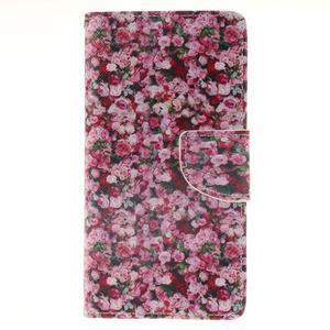 Leathy PU kožené puzdro na Huawei P8 Lite - ruže - 1