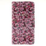 Leathy PU kožené puzdro na Huawei P8 Lite - ruže - 1/7