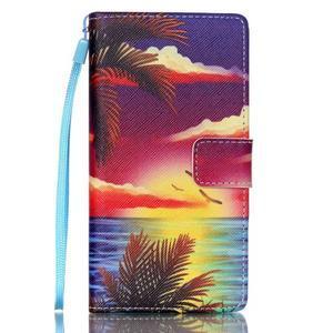 Picture PU kožené puzdro na Huawei P8 Lite - plážová scenéria - 1