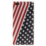 Flexi gelový obal na mobil Huawei P8 Lite - US vlajka - 1/5