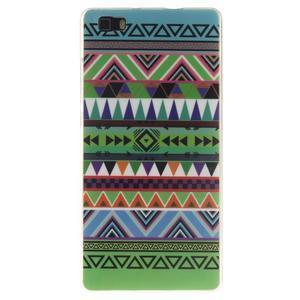 Flexi gelový obal na mobil Huawei P8 Lite - geo tvary - 1