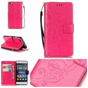 Magicfly PU kožené pouzdro na Huawei P8 Lite - rose - 1