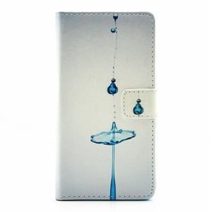 Knížkové pouzdro na mobil Huawei P9 Lite - kapky vody - 1