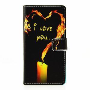 Knížkové pouzdro na mobil Huawei P9 Lite - miluji tě - 1