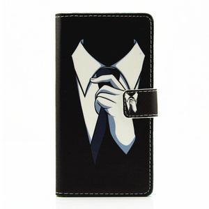 Knížkové pouzdro na mobil Huawei P9 Lite - muž v kravatě - 1