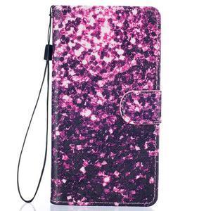Peněženkové PU kožené pouzdro na Huawei P9 Lite - purple - 1