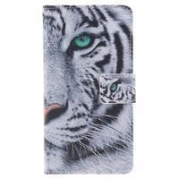 Floaty peňaženkové puzdro na mobil Huawei P9 Lite - tiger - 1/7