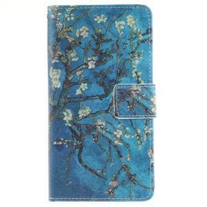 Floaty peňaženkové puzdro na mobil Huawei P9 Lite - kvitnúci strom - 1