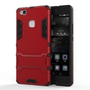 Odolný obal na mobil Huawei P9 Lite - červený - 1