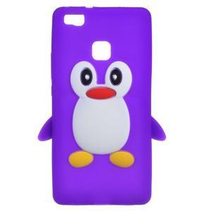 Silikonový obal na mobil Huawei P9 Lite - fialový - 1