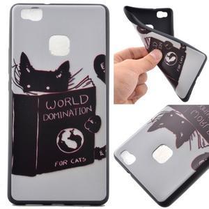 Softy gelový obal na mobil Huawei P9 Lite - kočička - 1