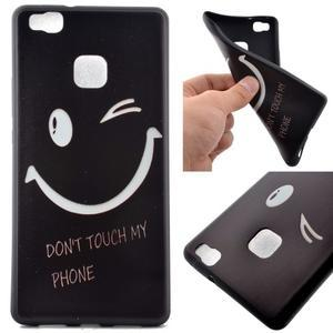 Softy gelový obal na mobil Huawei P9 Lite - nedotýkat se - 1