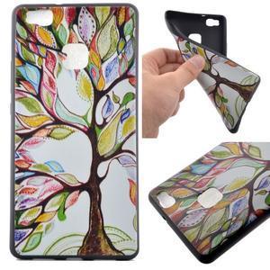 Softy gelový obal na mobil Huawei P9 Lite - barevný strom - 1
