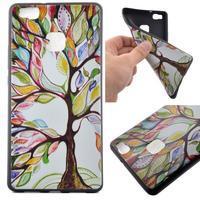 Softy gelový obal na mobil Huawei P9 Lite - barevný strom - 1/5