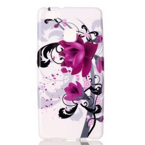 Emotive gelový obal na mobil Huawei P9 Lite - květy - 1
