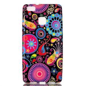 Emotive gelový obal na mobil Huawei P9 Lite - barevné kruhy - 1