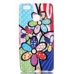 Emotive gelový obal na mobil Huawei P9 Lite - barevné květiny - 1/4